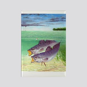 Speckled Trout Rectangle Magnet
