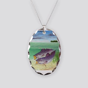 Speckled Trout Necklace Oval Charm