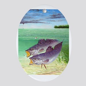 Speckled Trout Oval Ornament
