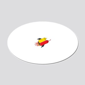 Rocket 20x12 Oval Wall Decal