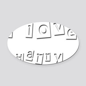 I Love Harry Oval Car Magnet