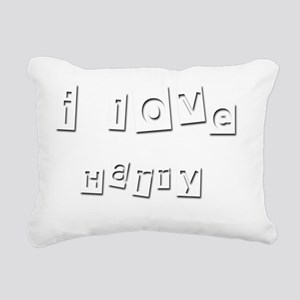 I Love Harry Rectangular Canvas Pillow