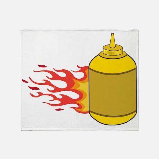 Mustard Bottle Throw Blanket