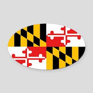 Maryland State Flag Oval Car Magnet