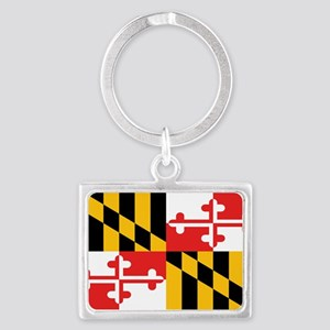 Maryland State Flag Landscape Keychain