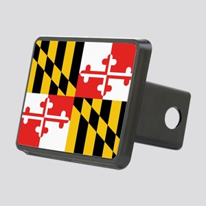 Maryland State Flag Rectangular Hitch Cover