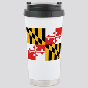 Maryland State Flag Stainless Steel Travel Mug