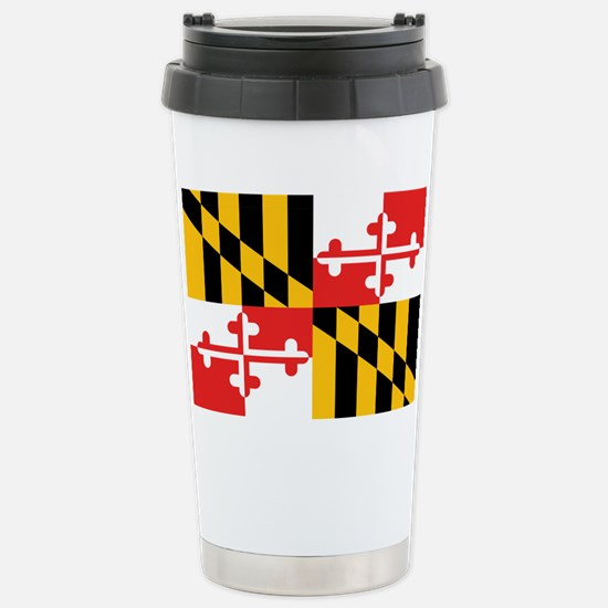 Maryland State Flag Stainless Steel Travel Mug