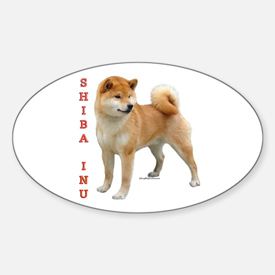 Shiba 2 Oval Decal