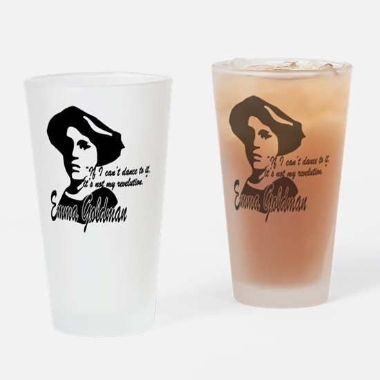 Emma Goldman with Quote Drinking Glass