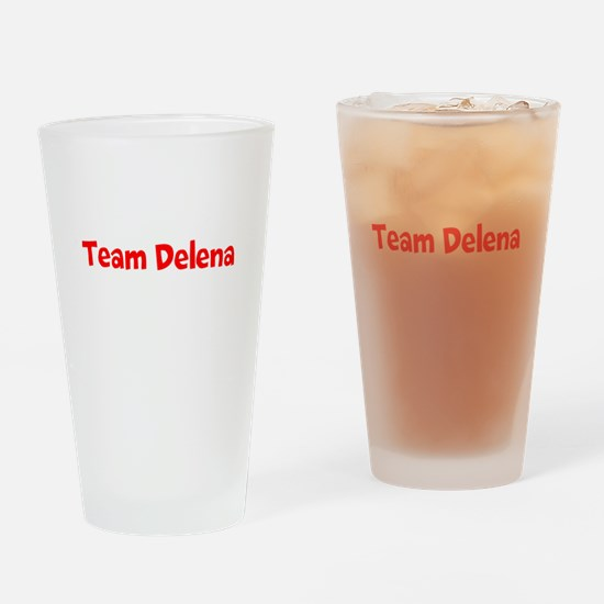 Team Delena Drinking Glass