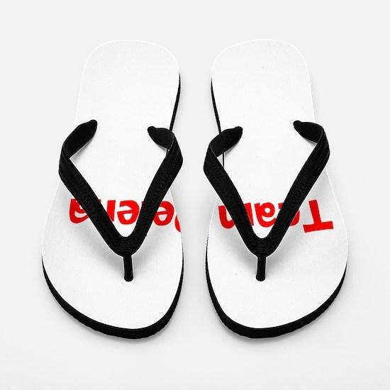 Team Delena Flip Flops