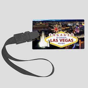 Engaged In Las Vegas Card Large Luggage Tag