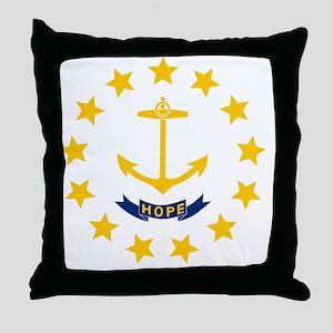 Rhode Island State Flag Throw Pillow