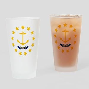 Rhode Island State Flag Drinking Glass