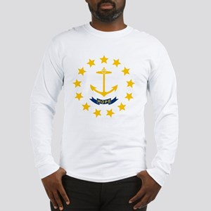 Rhode Island State Flag Long Sleeve T-Shirt