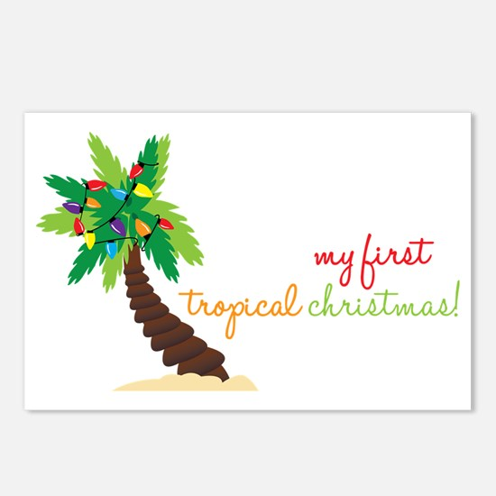 First Tropical Christmas Postcards (Package of 8)
