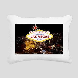 Engaged In Las Vegas Car Rectangular Canvas Pillow
