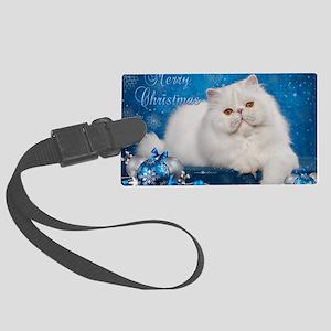 Perisan Cat Christmas Card Large Luggage Tag