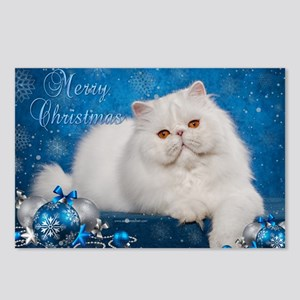 Perisan Cat Christmas Car Postcards (Package of 8)