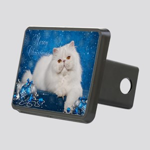 Perisan Cat Christmas Card Rectangular Hitch Cover
