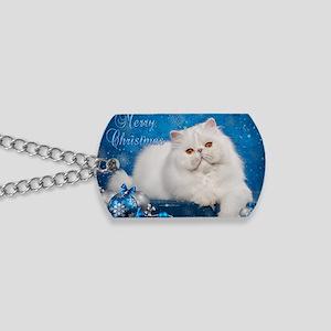 Perisan Cat Christmas Card Dog Tags