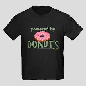 Powered By Donuts Kids Dark T-Shirt