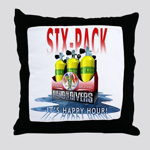 Bnad Of divers Six-Pack Throw Pillow