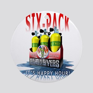Bnad Of divers Six-Pack Round Ornament