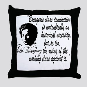 Rosa Luxemburg With Quote Throw Pillow