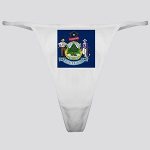 Maine State Flag Classic Thong