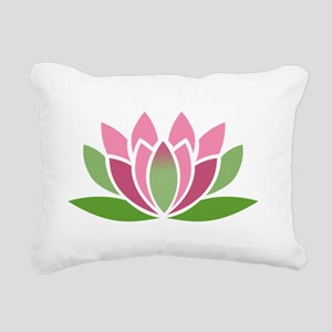 Lotus Blossom Rectangular Canvas Pillow