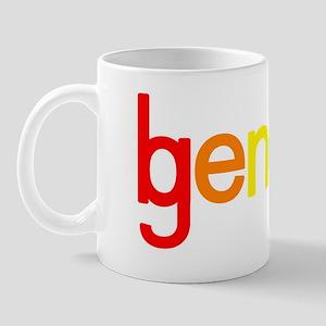 GB white outline logo Mug