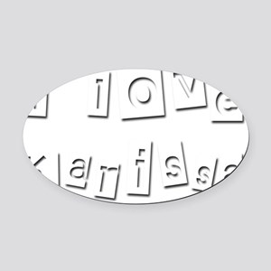 I Love Karissa Oval Car Magnet