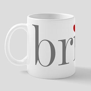 Grey Text Bride Mug