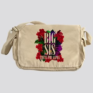 Theta Phi Alpha Big Floral Messenger Bag