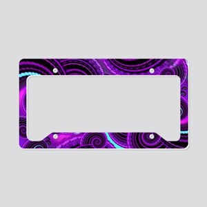 Funky Purple Swirl Fractal Ar License Plate Holder
