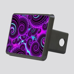 Funky Purple Swirl Fractal Rectangular Hitch Cover
