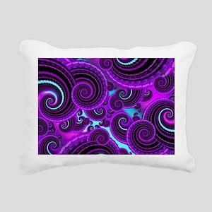 Funky Purple Swirl Fract Rectangular Canvas Pillow