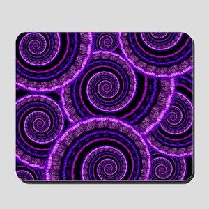 Purple Spiral Fractal Art Pattern Mousepad