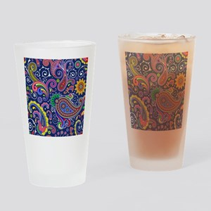 colorful paisley Drinking Glass