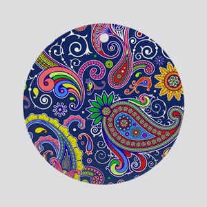 colorful paisley Round Ornament