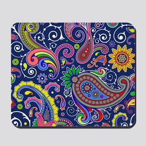 colorful paisley Mousepad
