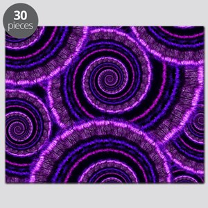 Purple Spiral Fractal Art Pattern Puzzle