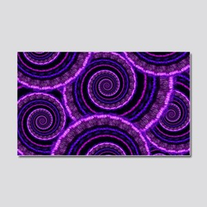 Purple Spiral Fractal Art Patte Car Magnet 20 x 12