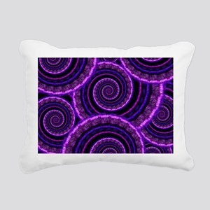 Purple Spiral Fractal Ar Rectangular Canvas Pillow