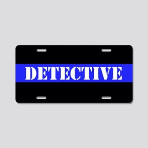 Police Detective Aluminum License Plate