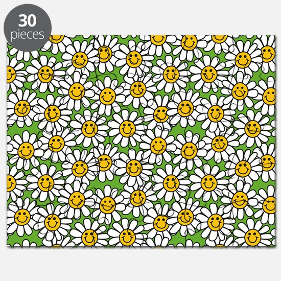 Smiley Daisy Flowers Pattern Puzzle
