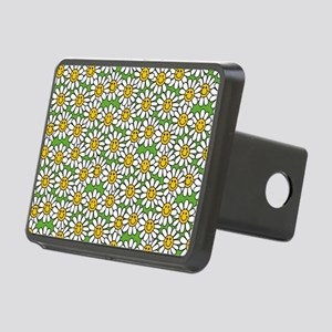 Smiley Daisy Flowers Patte Rectangular Hitch Cover