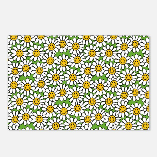 Smiley Daisy Flowers Patt Postcards (Package of 8)